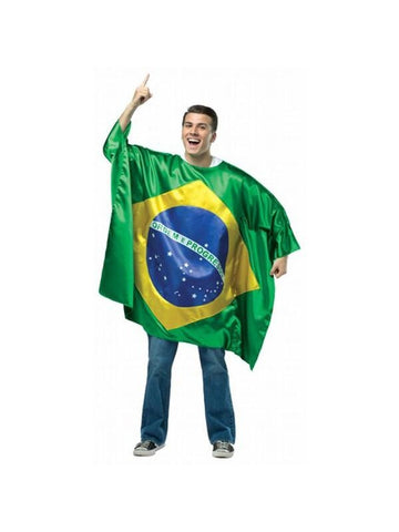 Adult Brazil Flag Tunic Costume
