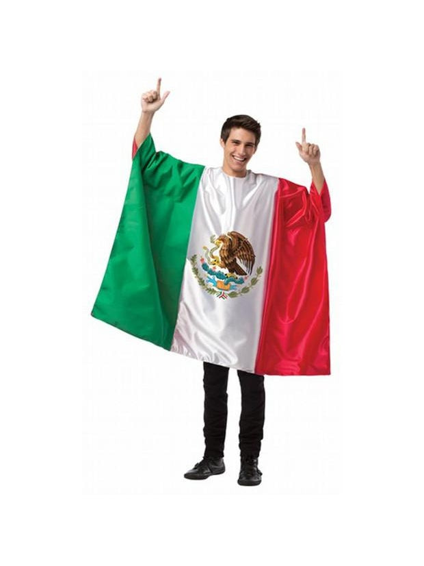 Adult Mexico Flag Tunic Costume-COSTUMEISH