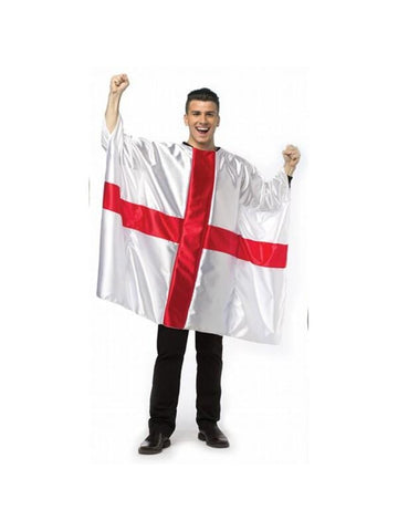Adult England Flag Tunic Costume-COSTUMEISH