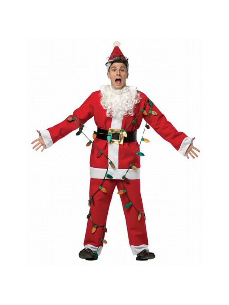 Adult National Lampoons Christmas Vacation Light Up Santa Suit-COSTUMEISH