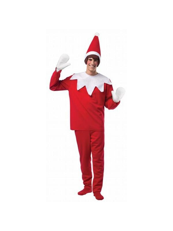 Adult Elf On A Shelf Costume-COSTUMEISH