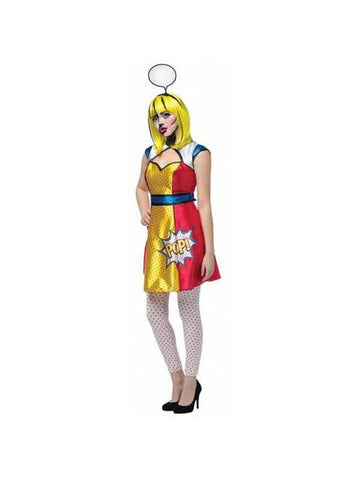 Adult Pop Art Girl Costume