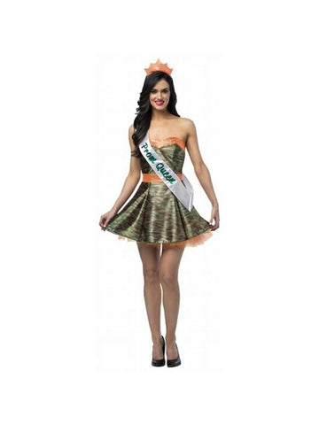 Adult Camouflage Prom Dress Costume-COSTUMEISH