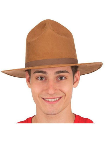 Faux Suede Ranger Hat-COSTUMEISH
