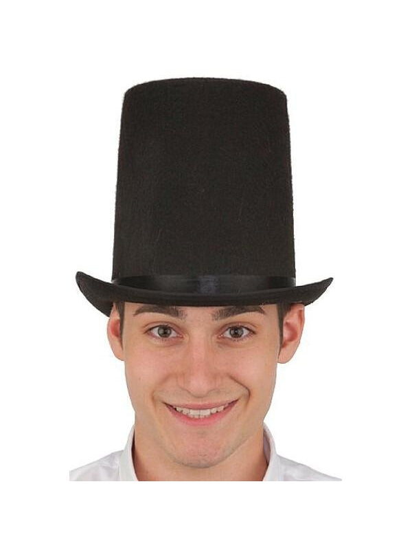 Black Felt Lincoln Stovepipe Hat-COSTUMEISH