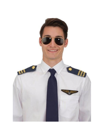 Pilot Costume Set- Glasses, Epaulets, & Wings