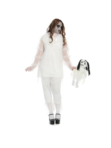 Adult White Wicked Doll Plus Size Costume-COSTUMEISH