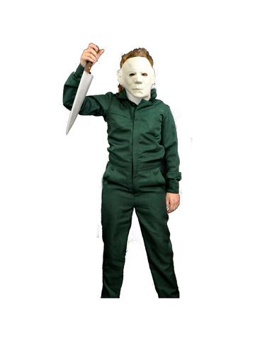 Halloween II Child Michael Myers Covers w/ Mask Costume-COSTUMEISH