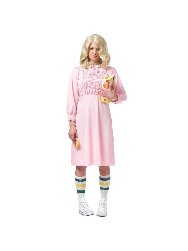 Women's Strange Girl Pink Costume Dress-COSTUMEISH