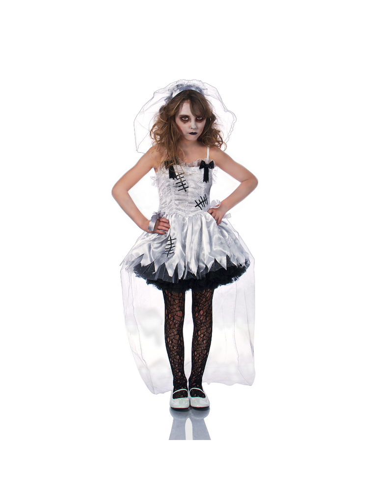 Girl's Zombie Wedding Costume-COSTUMEISH