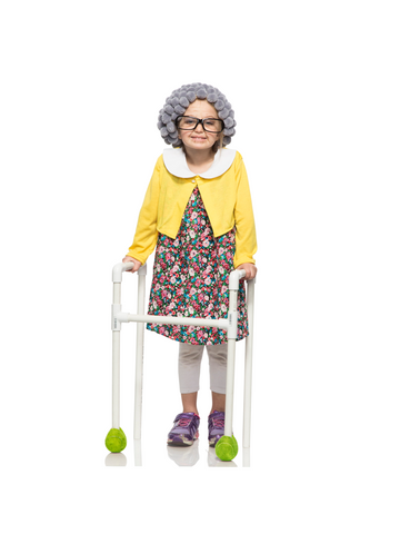 Girl's Old-Timer Granny Costume-COSTUMEISH