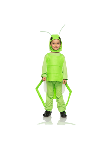 Child Green Grasshopper Costume-COSTUMEISH