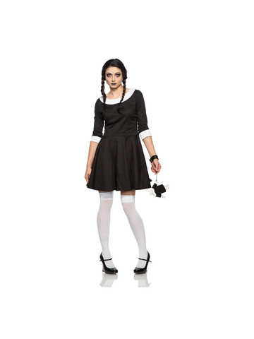 Women's Gothic Wednesday Costume-COSTUMEISH