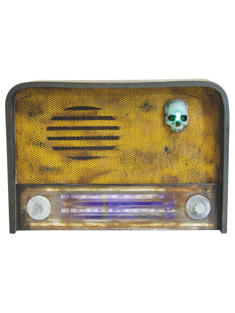 Radio w/ Sound Halloween Decoration-COSTUMEISH