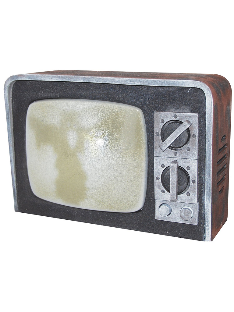 Broken Television w/Sound Halloween Prop-COSTUMEISH