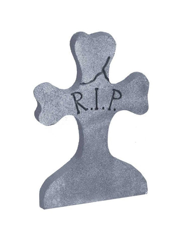 Cross Tombstone Cemetery Yard Prop
