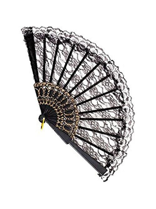 Black Lace Fan-COSTUMEISH