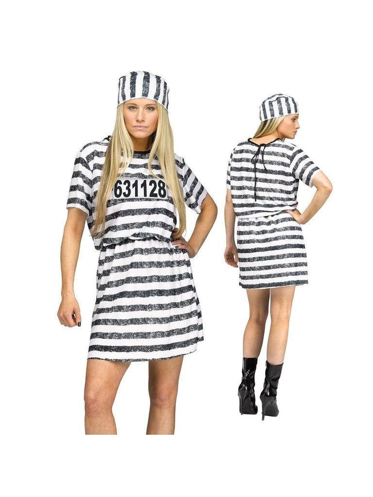 Convict Woman Costume-COSTUMEISH
