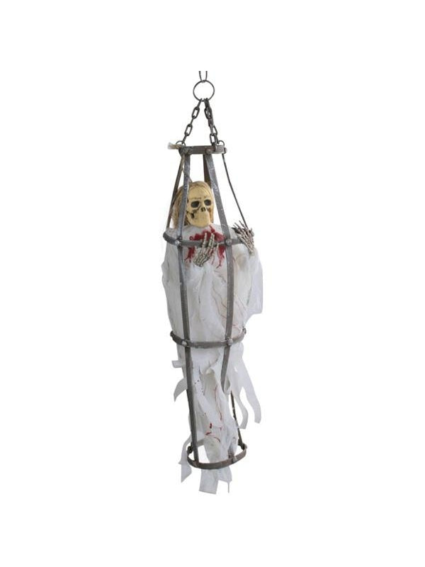 Caged White Ghoul Halloween Prop-COSTUMEISH