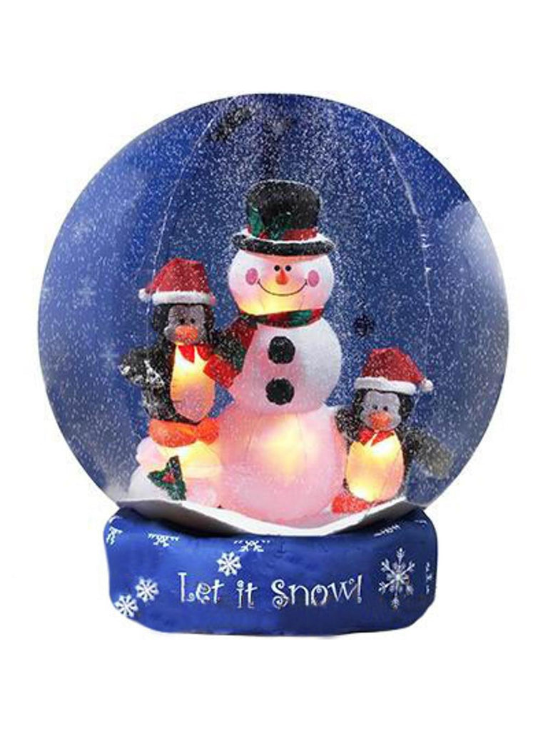 8' Airblown Inflatable Snowman and Penguins Christmas Lawn Decoration-COSTUMEISH