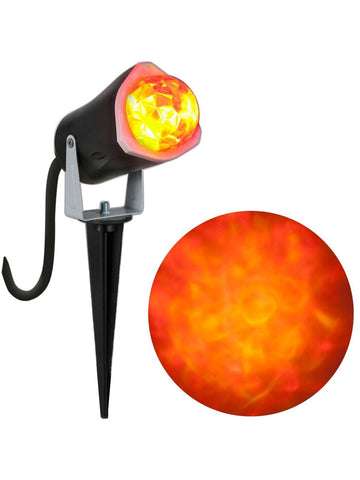 Orange & Yellow Outdoor Spot Light-Kaleidoscope Halloween Decoration