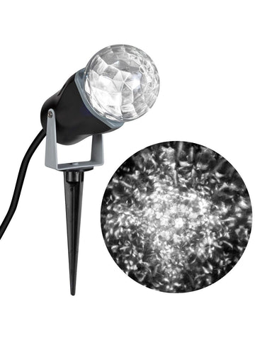 White Outdoor Spot Light-Kaleidoscope Halloween Decoration
