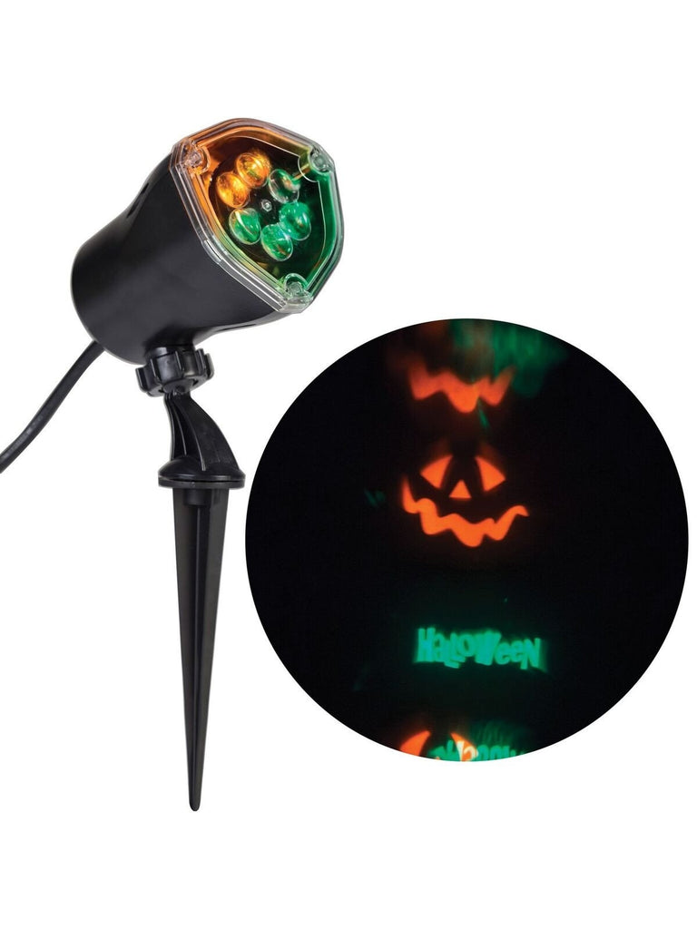 "Orange & Green Spinning Lightshow Projection ""Happy Halloween"" Halloween Decoration-COSTUMEISH"