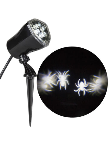 White Spiders Whirling Lightshow Projection Halloween Decoration