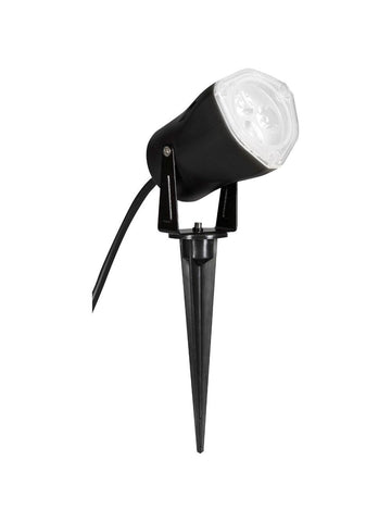 White Outdoor LED Strobing Spot Light w/Switch