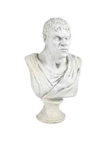 Male Bust Haunted House Statue Prop