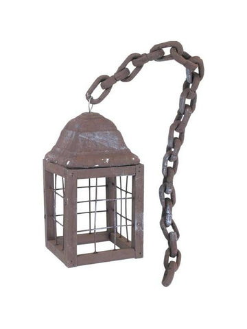 Old Time Lantern On Chain Halloween Prop
