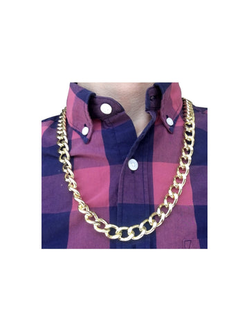 Real Metal Chain Costume Pimp Necklace-COSTUMEISH
