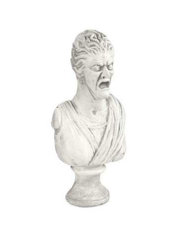 Scary Female Bust Haunted House Statue Prop