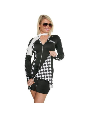 Adult Sexy Checkered Racer Costume