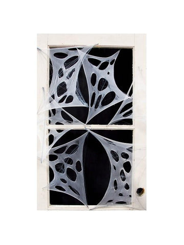 4 Piece Creepy Stretchy Spider Webs-COSTUMEISH