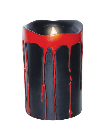 2 Piece Black Blood Dripping Candles