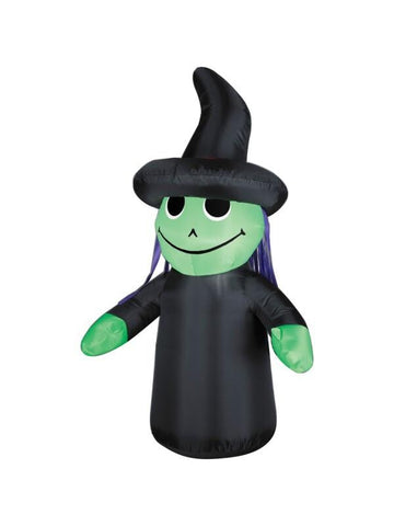 Inflatable 4' Outdoor Witch Yard Decoration