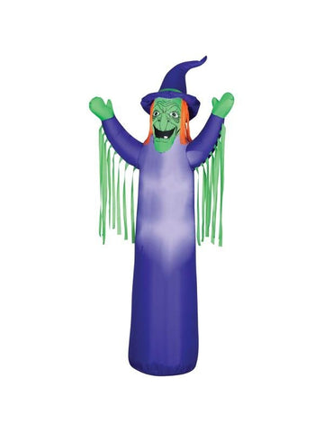 Airblown Inflatable Witch With Light Up Eyes-COSTUMEISH