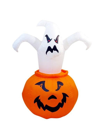 Airblown Pumpkin with Pop Out Ghost-COSTUMEISH