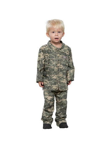 Toddler Little Soldier Army Costume-COSTUMEISH