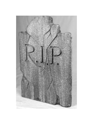 Weathered & Damaged Halloween Tombstone