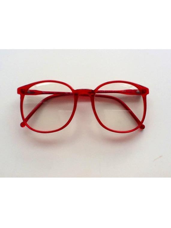 Log Lady Twin Peaks Red Costume Glasses-COSTUMEISH