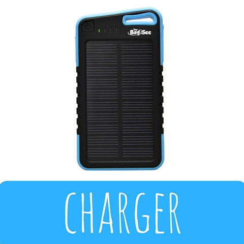 BagSee Waterproof Solar Powered Battery Charger!