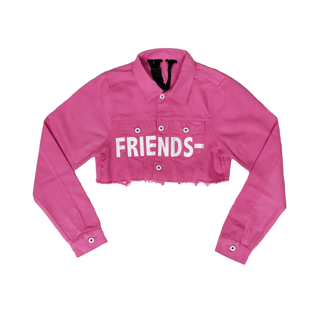 WOMEN'S FRIENDS- PINK DENIM JACKET