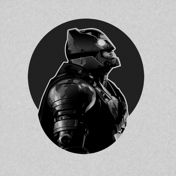 Armor Batman Portrait