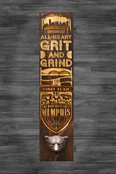 Memphis Grizzlies wall-mounted laser engraved bottle opener