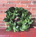 Magnolia Leaf Wreath in natural light