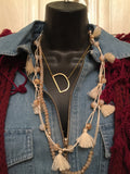 Assorted Long Necklace with Tassels