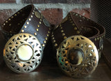 Leather Belt with Coins