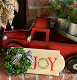 Boxwood 'JOY' Sign